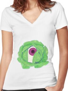 cabbage Women's Fitted V-Neck T-Shirt