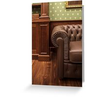 leather sofa in office Greeting Card