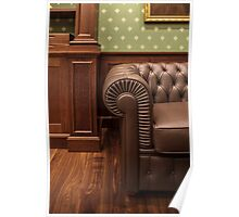 leather sofa in office Poster