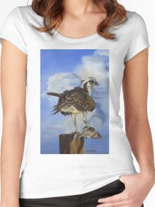 Osprey And A Mullet Women's Fitted Scoop T-Shirt