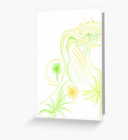 Abstract Neverland Fairy Greeting Card