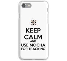 Keep calm and use mocha for tracking iPhone Case/Skin