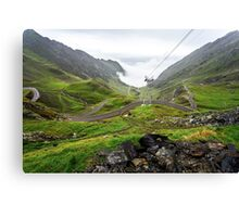 The Craziest Road in the World: Transfaragarasan, Romania Canvas Print