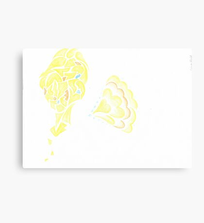 Abstract Tweeting Canary Canvas Print