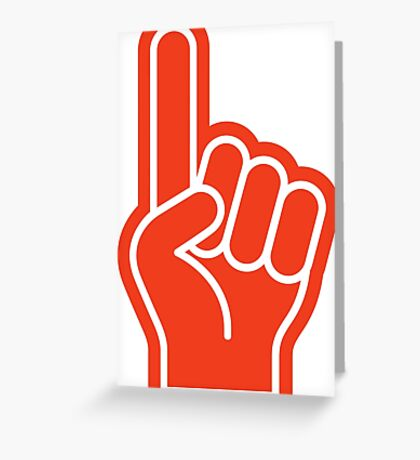 Great finger at sporting events Greeting Card
