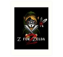 Z for Zelda Art Print