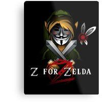 Z for Zelda Metal Print