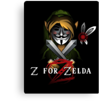 Z for Zelda Canvas Print