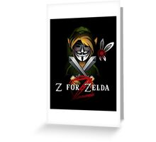 Z for Zelda Greeting Card