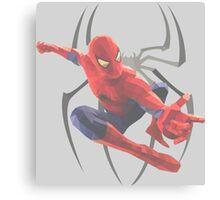 Geometric Spiderman Canvas Print
