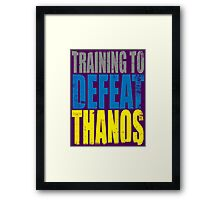Training to DEFEAT THANOS Framed Print