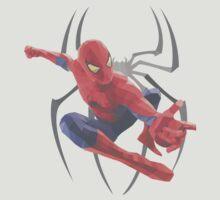 Geometric Spiderman by Katy Sykes