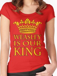Weasley Is Our King (Gryffindor) Women's Fitted Scoop T-Shirt