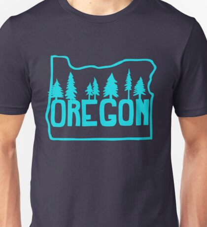 Oregon Evergreens | Teal Unisex T-Shirt