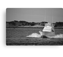 Boat Driving Canvas Print