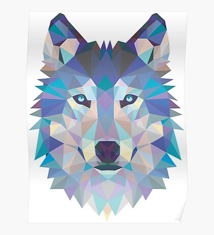 WOLF BLUE Poster