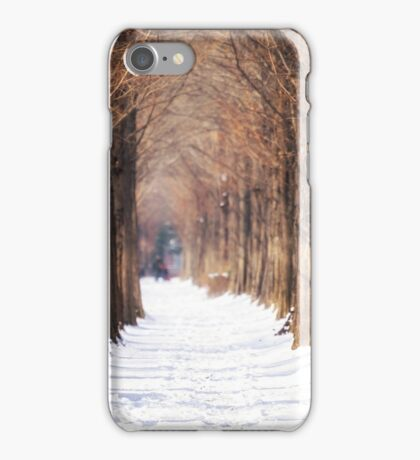 winter metasequoia road iPhone Case/Skin