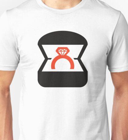 An engagement ring / wedding ring Unisex T-Shirt