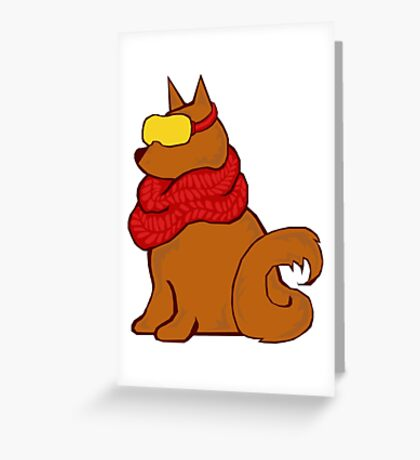 Cool Pup Greeting Card