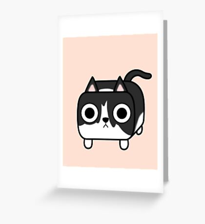 Cat Loaf - Tuxedo Kitty - Black and White Greeting Card