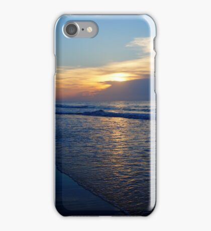 Walking on the beach on a cloudy day iPhone Case/Skin