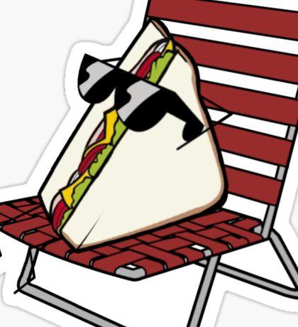 Cool Guy Sandwich Sticker