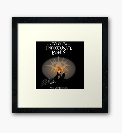 A series of unfortunate events we are concernd Framed Print
