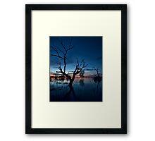 Sunset on the Lake - Menindee, NSW Framed Print