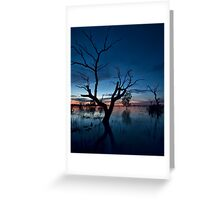 Sunset on the Lake - Menindee, NSW Greeting Card