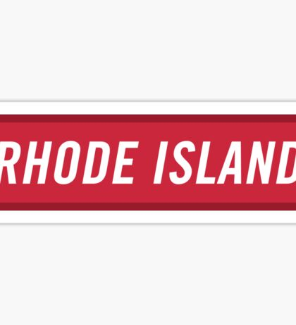 Rhode Island R Sticker