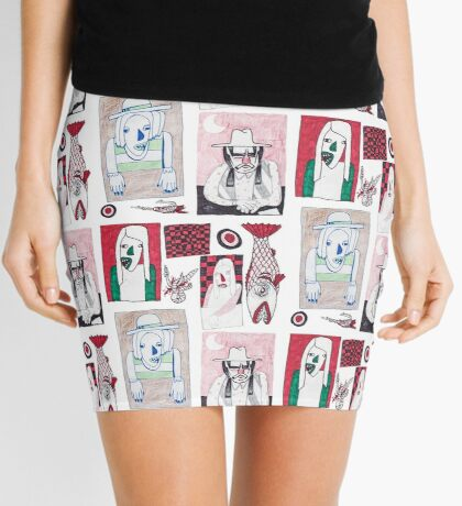 Red, White and Bait Mini Skirt