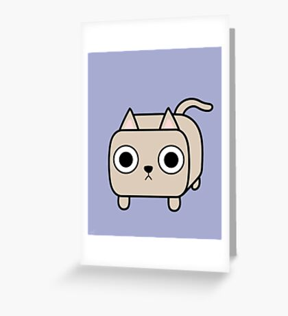 Cat Loaf - Cream Kitty Greeting Card