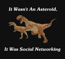 Social Networking: The Real Cause Of Dinosaur Extinction Kids Clothes