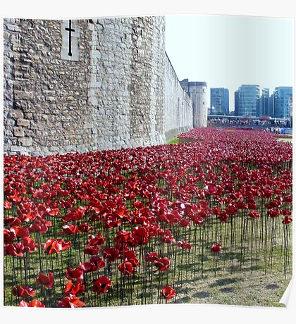Sea of poppies -Tower of London Poster