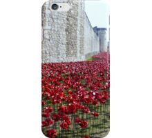 Sea of poppies -Tower of London iPhone Case/Skin