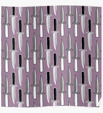 Double Knives in Mauve Poster