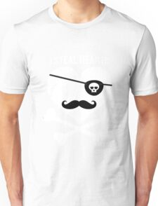 I Steal Hearts Funny Pirate Bone Valentines Gift Boys  Unisex T-Shirt