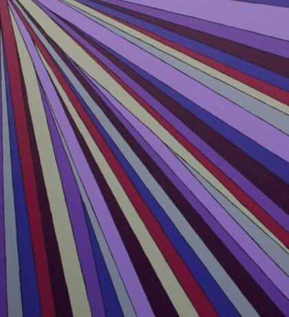Purple rays Sticker