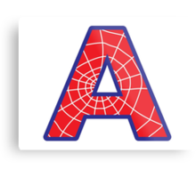 A letter in Spider-Man style Metal Print