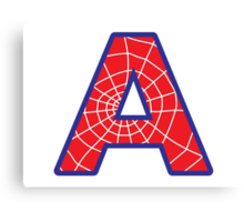 A letter in Spider-Man style Canvas Print