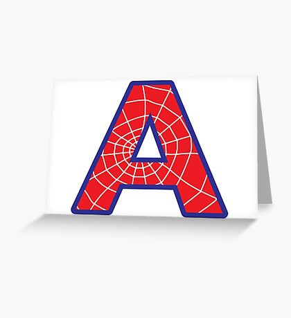 A letter in Spider-Man style Greeting Card