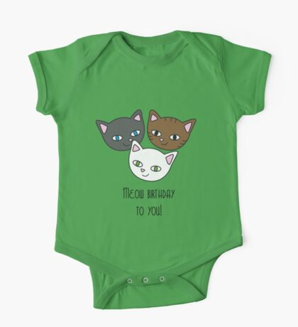 Meow birthday to you One Piece - Short Sleeve