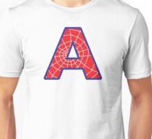 A letter in Spider-Man style Unisex T-Shirt