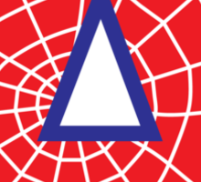 A letter in Spider-Man style Sticker