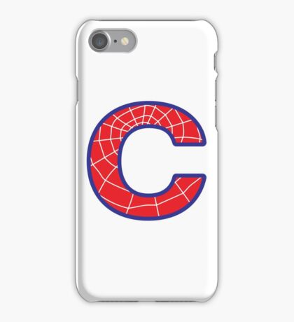 C letter in Spider-Man style iPhone Case/Skin