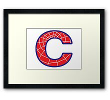 C letter in Spider-Man style Framed Print