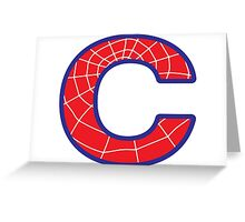 C letter in Spider-Man style Greeting Card