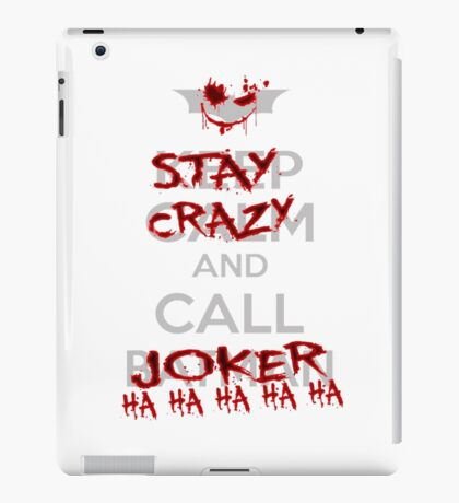 batman call joker iPad Case/Skin