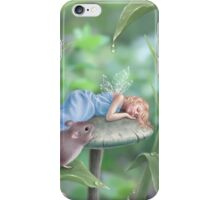 Sweet Dreams Sleeping Fairy & Mouse iPhone Case/Skin