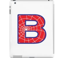 B letter in Spider-Man style iPad Case/Skin